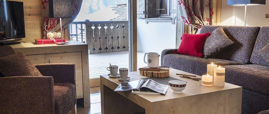 Le salon de l'appartement - Résidence Léana aux Carroz d'Arâches