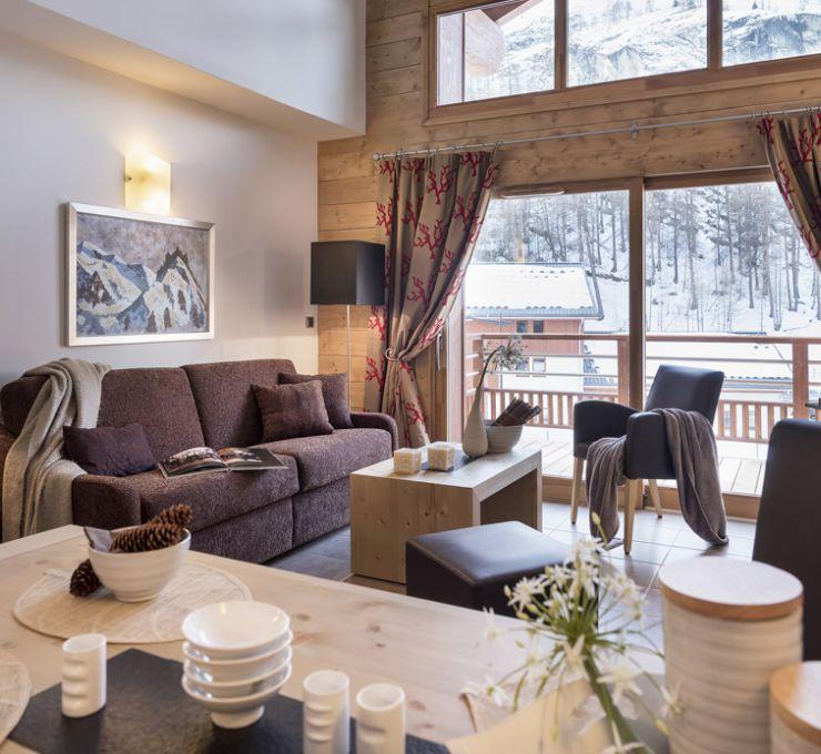 Le salon de l'appartement - Résidence Kalinda à Tignes
