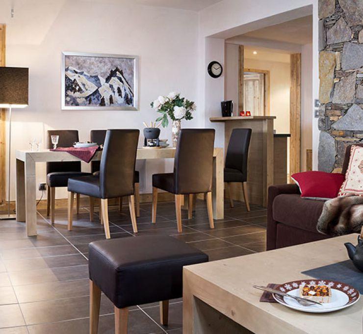 Le salon de l'appartement - La Perle des Alpes aux Saisies