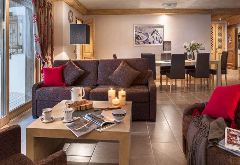 Le salon de l'appartement - Les Chalets d'Angèle à Châtel