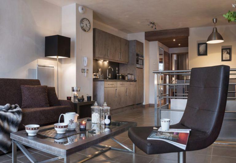 Le salon de l'appartement - Le Centaure à Flaine