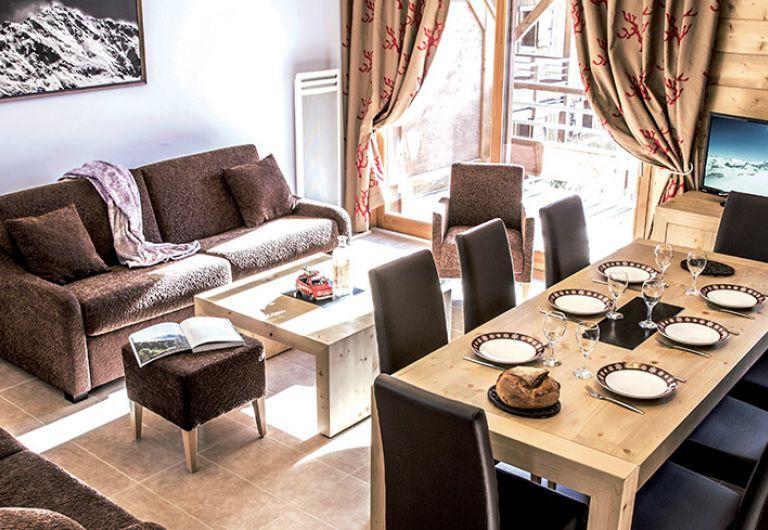 Le salon de l'appartement - La Grange aux Fées à Valmorel