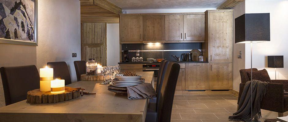 La cuisine de l'appartement - Les Chalets d'Angèle à Châtel