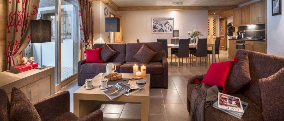Le salon de l'appartement - Chalet Les Marmottons à La Rosière
