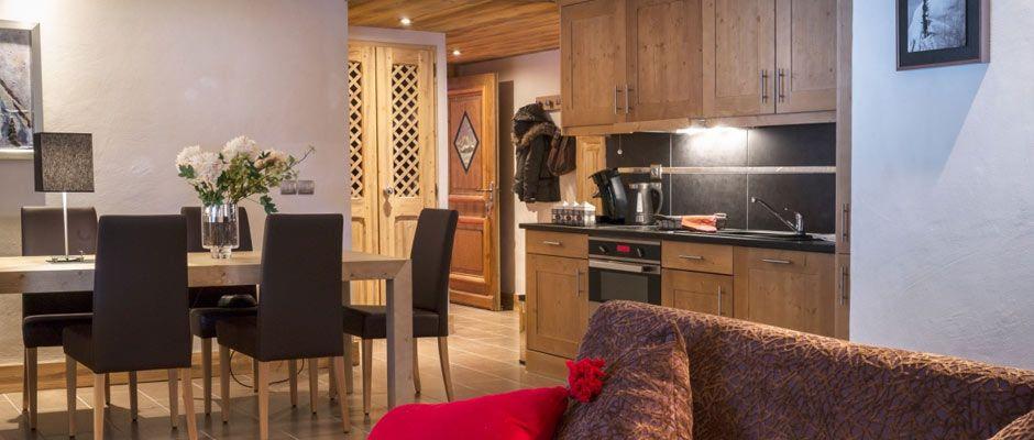 Le salon de l'appartement - Les Chalets de Laÿssia à Samoëns