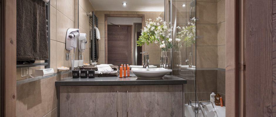 La salle de bain de l'appartement - Le Centaure à Flaine