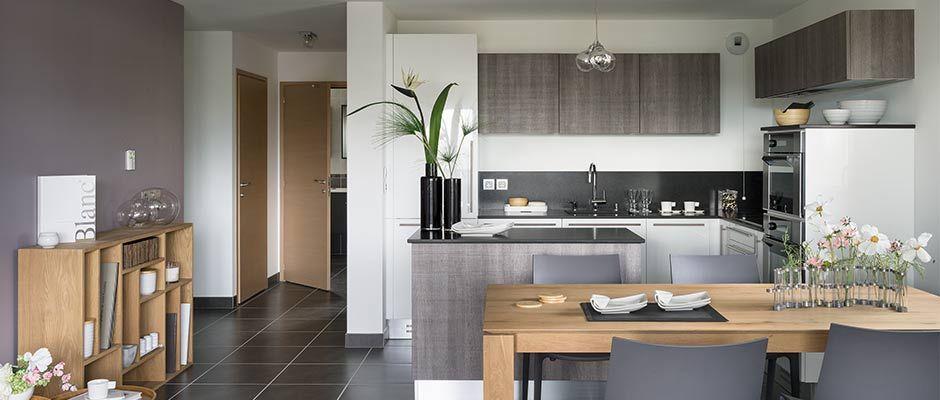 La cuisine de l'appartement - Jardin Cardinal