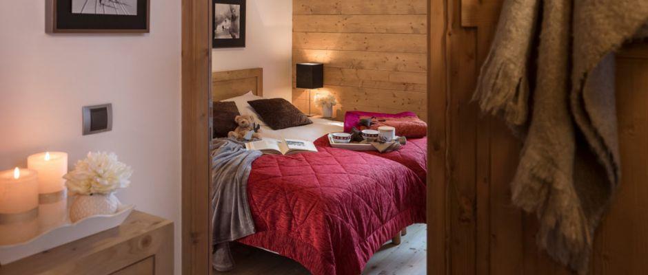 La chambre de l'appartement - Le Lodge des Neiges à Tignes