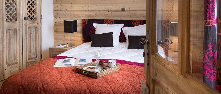 La chambre de l'appartement - Les Chalets de Laÿssia à Samoëns