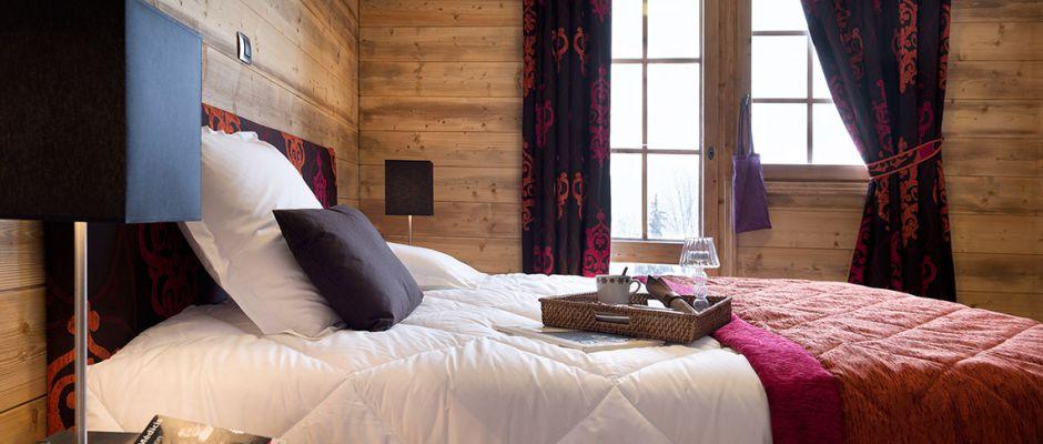 La chambre de l'appartement - La Grange aux Fées à Valmorel