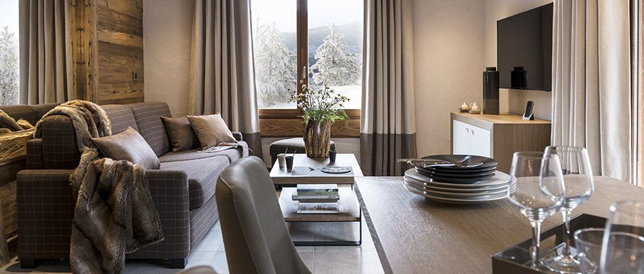 Le salon de l'appartement - Villa de Jade