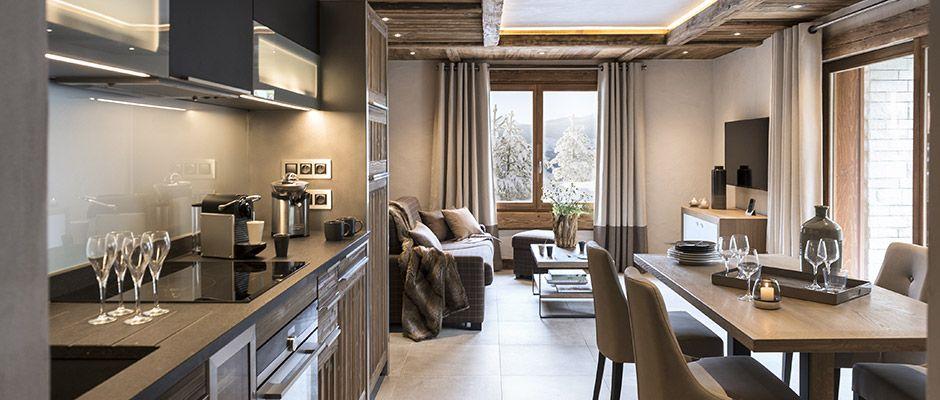 Le salon de l'appartement - Le Cristal de Jade à Chamonix