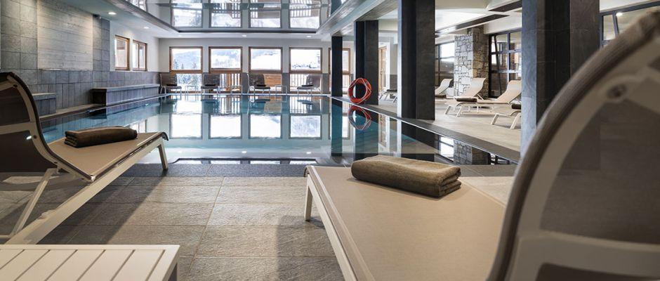 La piscine de la résidence - Le Roc des Tours au Grand-Bornand