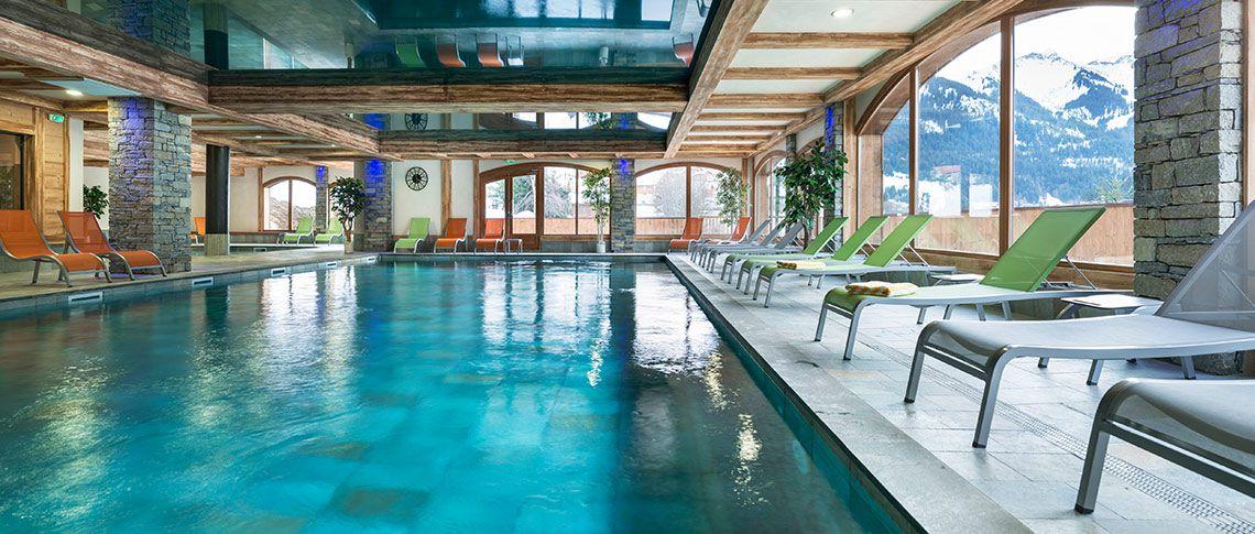 La piscine de la résidence - Les Chalets d'Angèle à Châtel