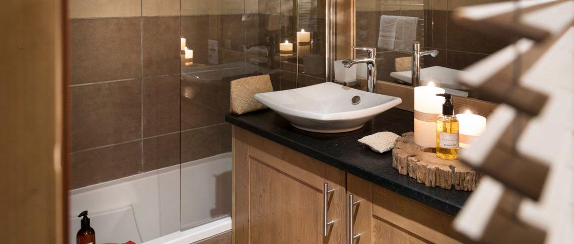 La salle de bain de l'appartement - Chalet Les Marmottons à La Rosière