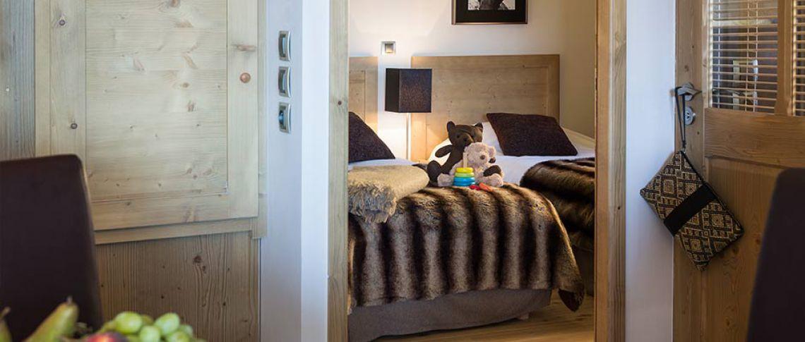 La chambre de l'appartement - Le Lodge Héméra à La Rosière