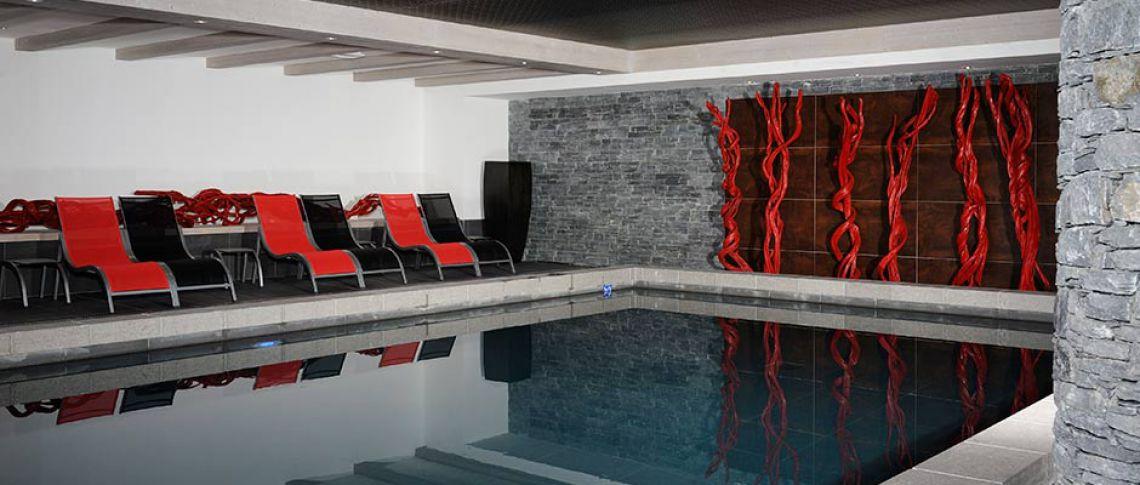 La piscine de la résidence - Le Lodge Héméra à La Rosière