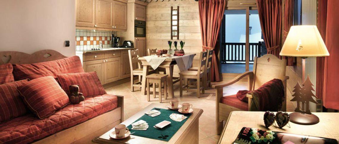 Le salon de l'appartement - Le Chalet Anastasia à La Rosière