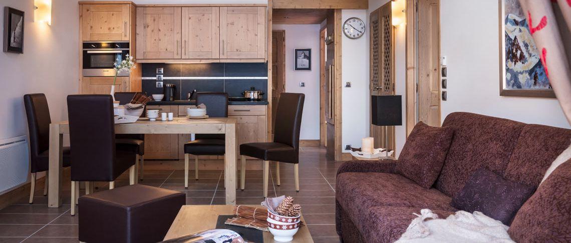 Le salon de l'appartement - Le Lodge des Neiges à Tignes