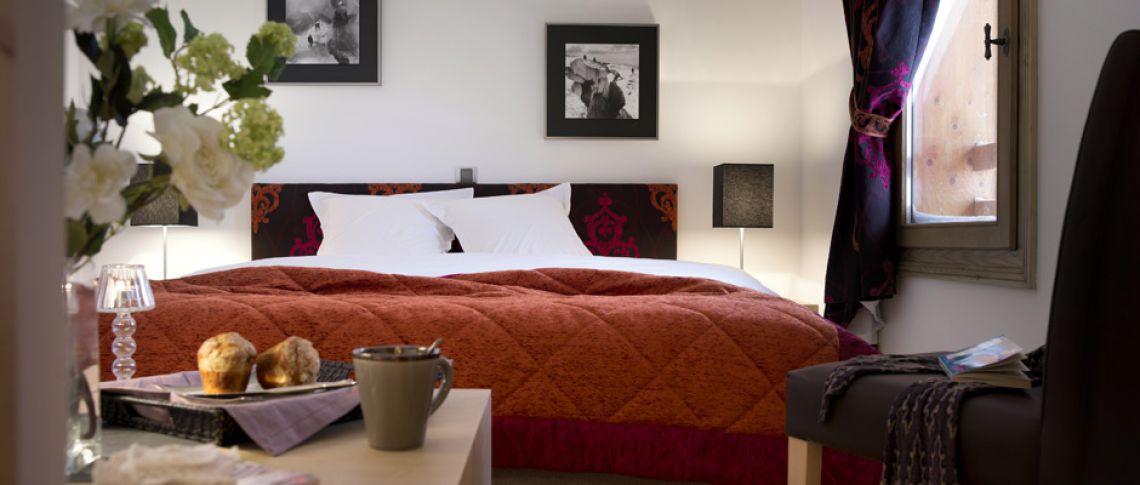 La chambre de l'appartement - Les Chalets de Flambeau à Val Cenis