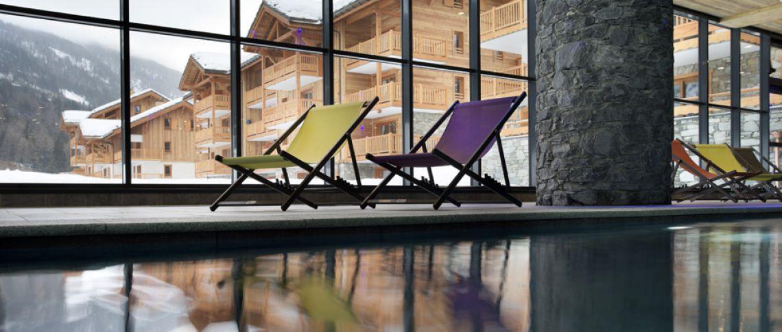 La piscine de la résidence - Les Chalets de Flambeau à Val Cenis