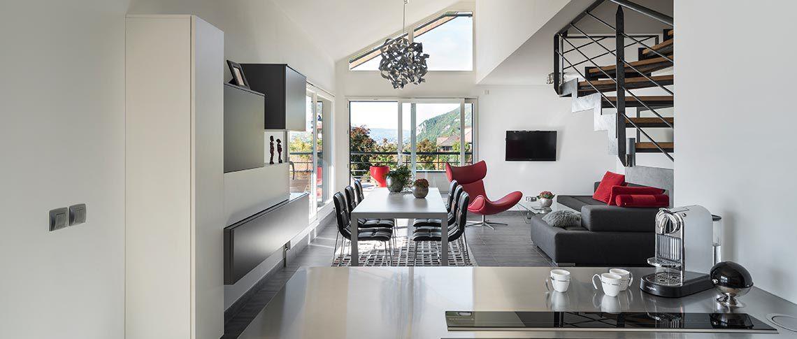 Intérieur salon Villa Sienna - Appartements en vente à Annecy