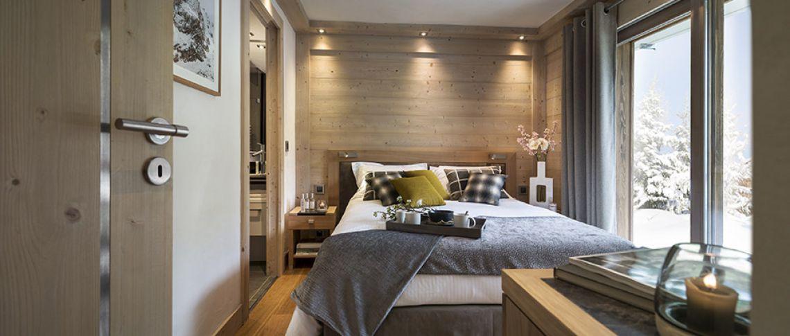 La chambre de l'appartement - Le Roc des Tours au Grand-Bornand