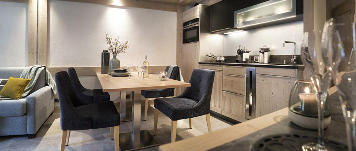 Le salon de l'appartement - Résidence Alexane à Samoëns