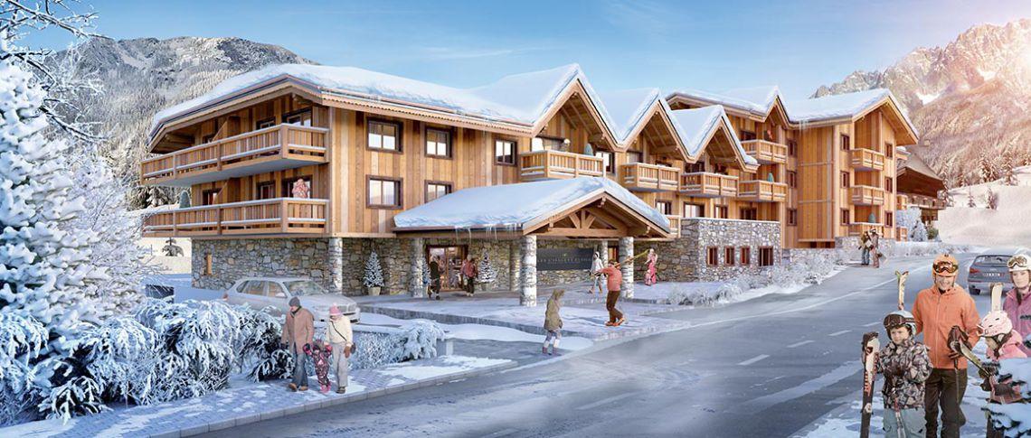 Perspective de la résidence - Les Chalets Éléna à Chamonix - Les Houches