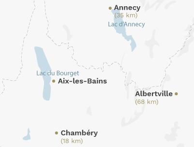 Carte - Aix-les-Bains